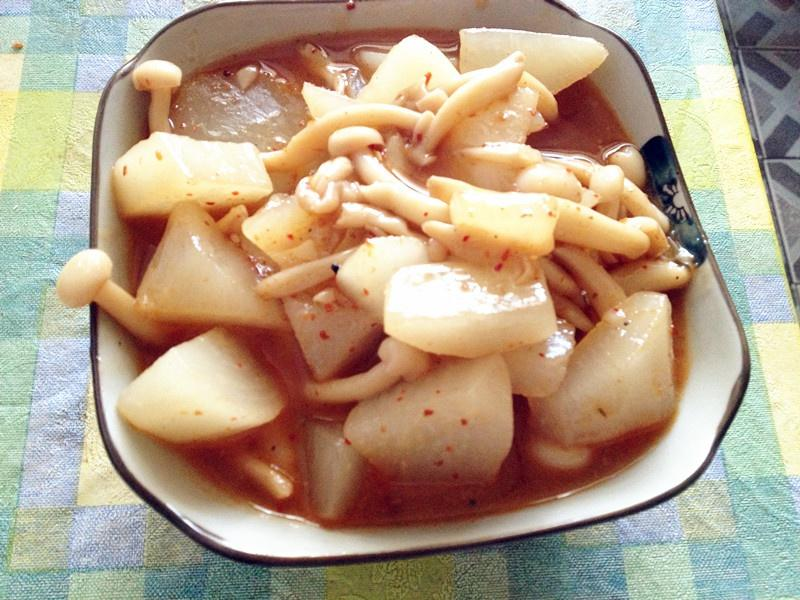 The practice of stay of proceedings of piquancy turnip seafood, how to do delicious