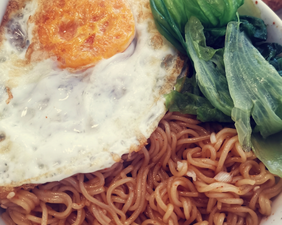 The practice of the green sweet chow mien of vigour breakfast
