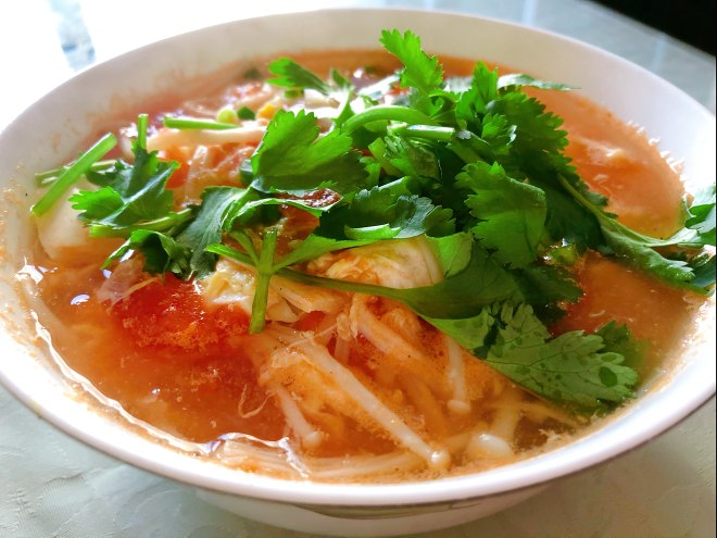 The practice of a thick soup of tomato bean curd, how is a thick soup of tomato bean curd done delicious