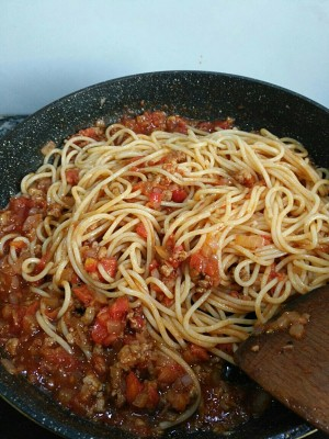 The practice measure of side of meaning of tomato meat sauce 4